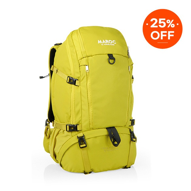 MAROC Travel Backpack 38L - Asilah Yellow